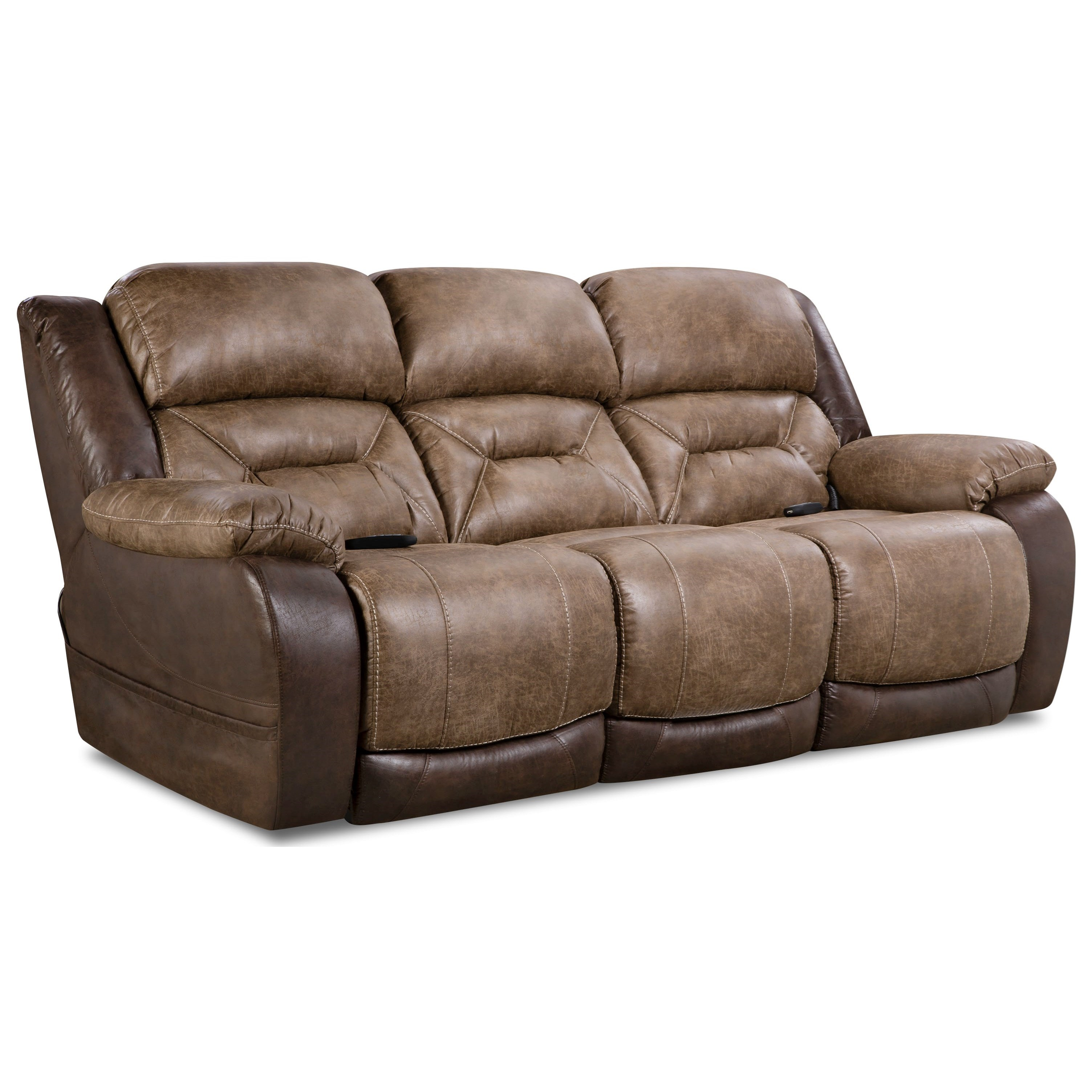 168 Collection Double Reclining Power Sofa at Sadler's Home Furnishings
