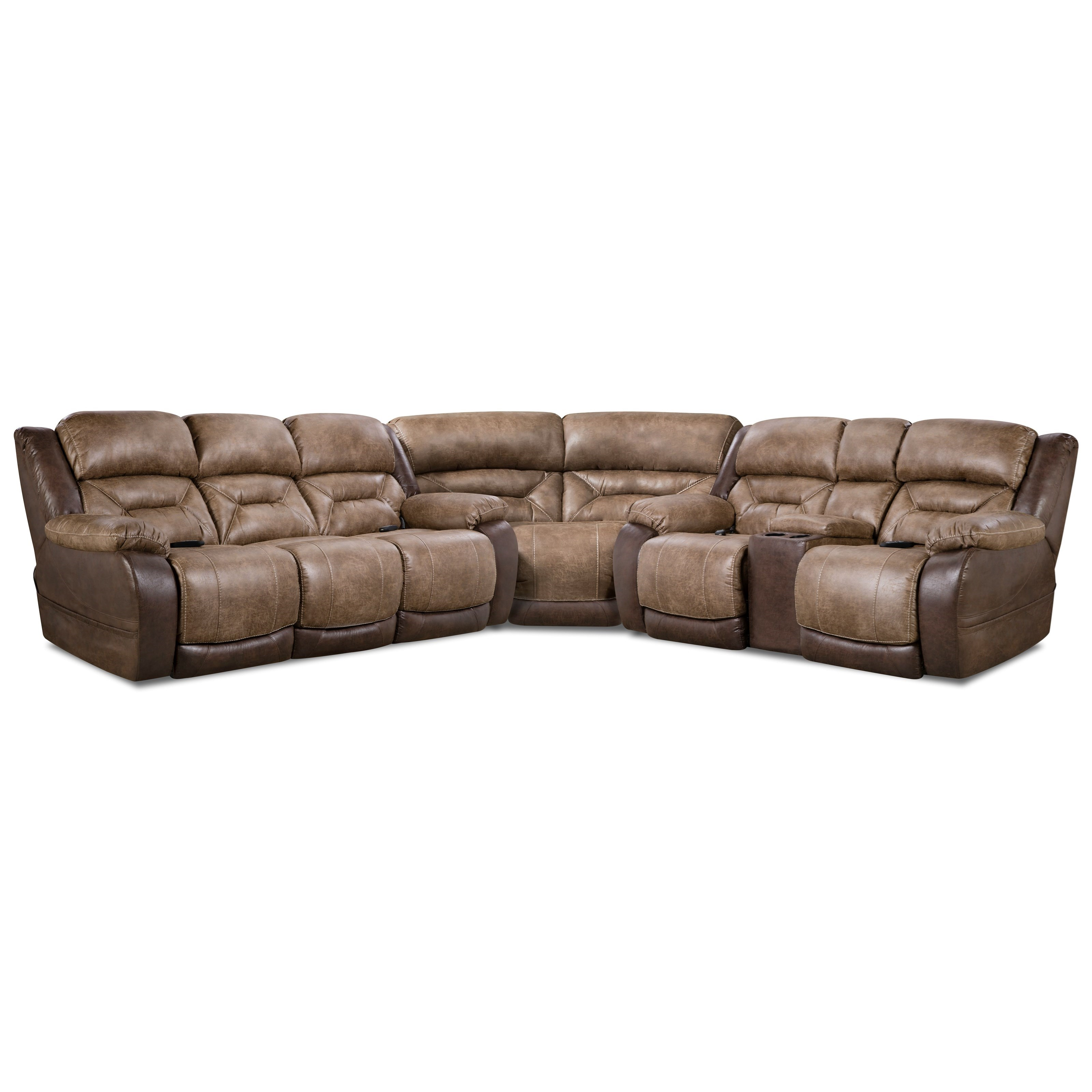 168 Collection Power Reclining Sectional by HomeStretch at Bullard Furniture
