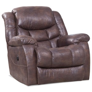 Power Rocker Recliner with Pillow Arms
