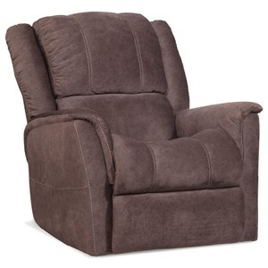 Power Recliner with Contrast Stitching