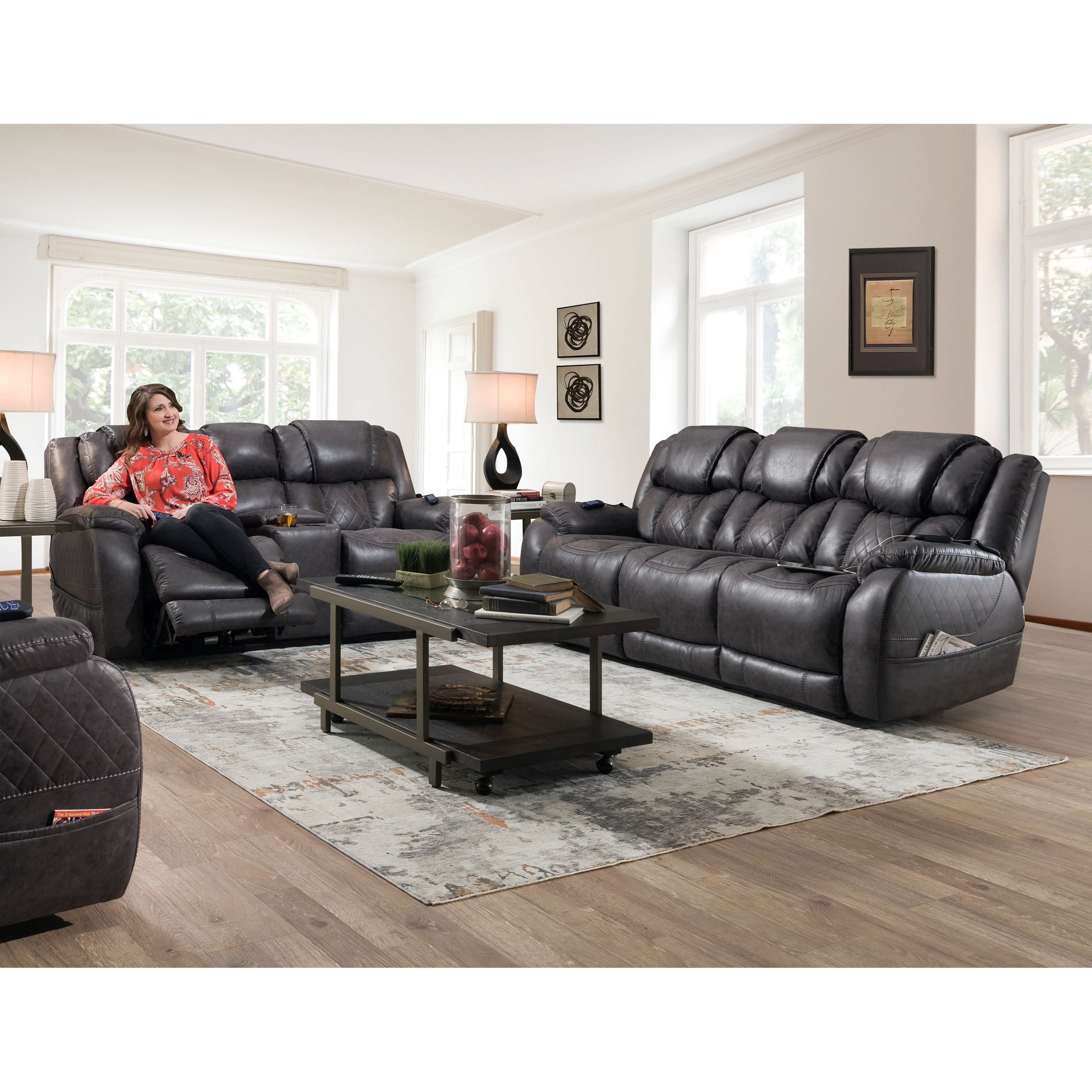 174 Reclining Living Room Group by HomeStretch at Suburban Furniture