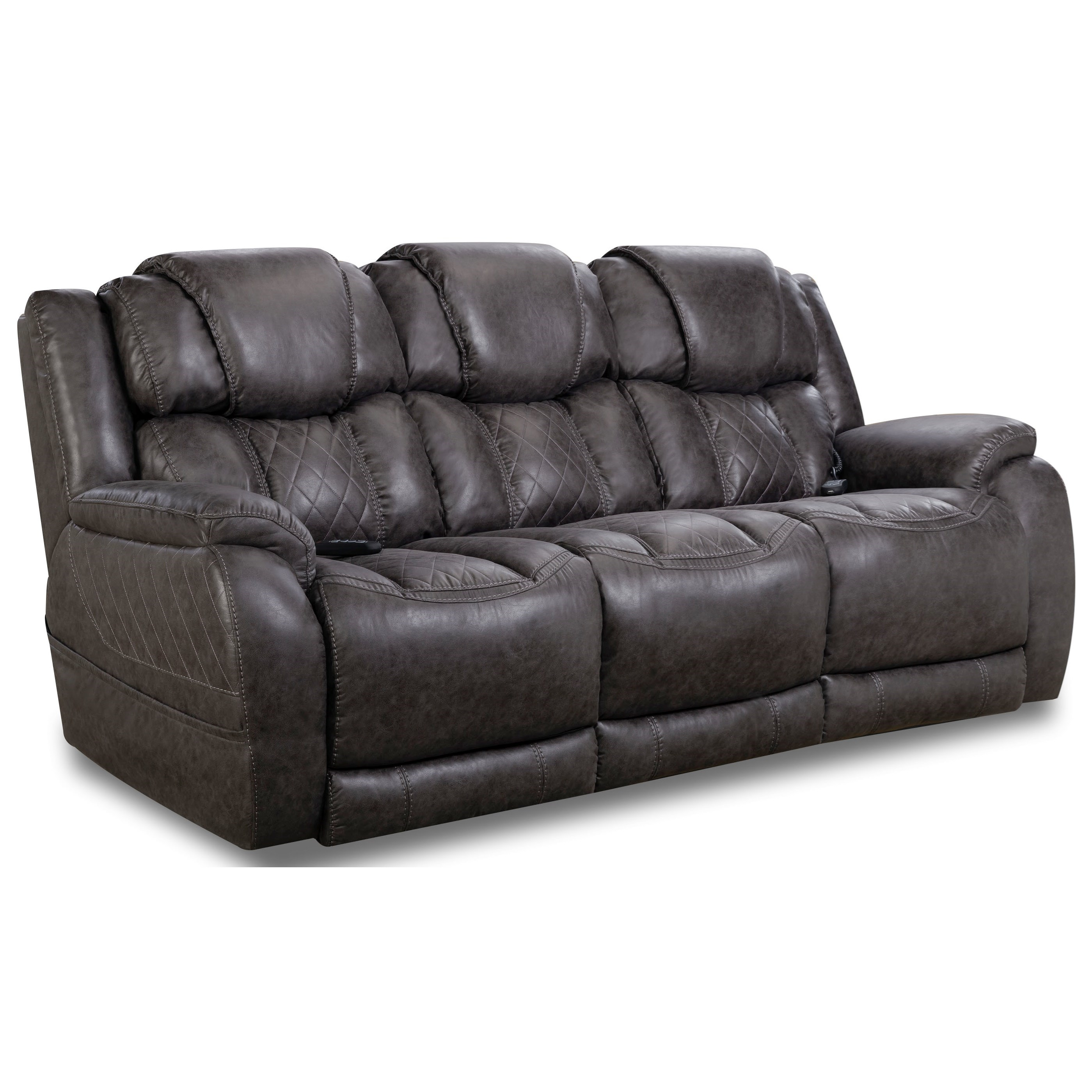 174 Double Reclining Power Sofa by HomeStretch at Johnny Janosik