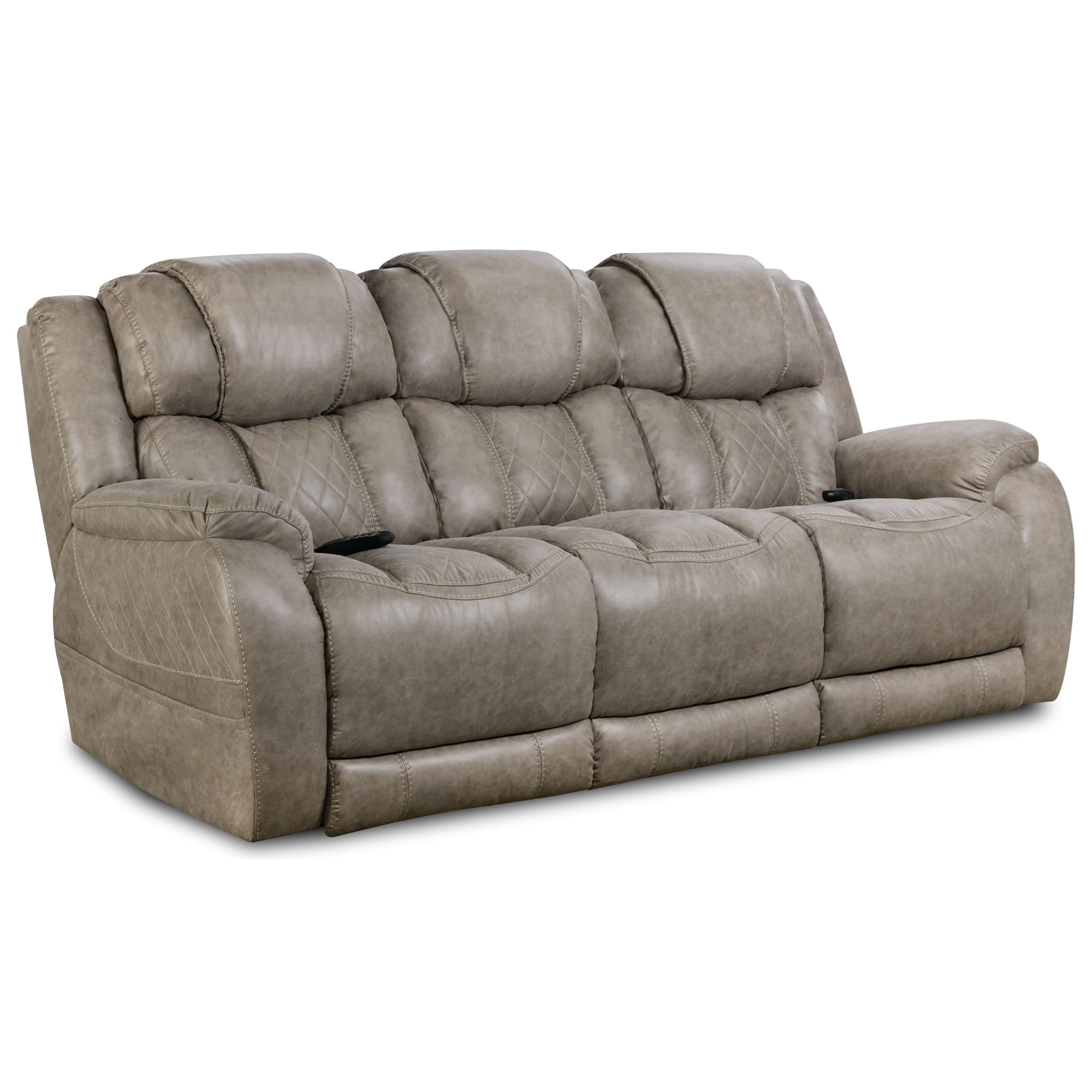 174 Double Reclining Power Sofa by HomeStretch at Suburban Furniture
