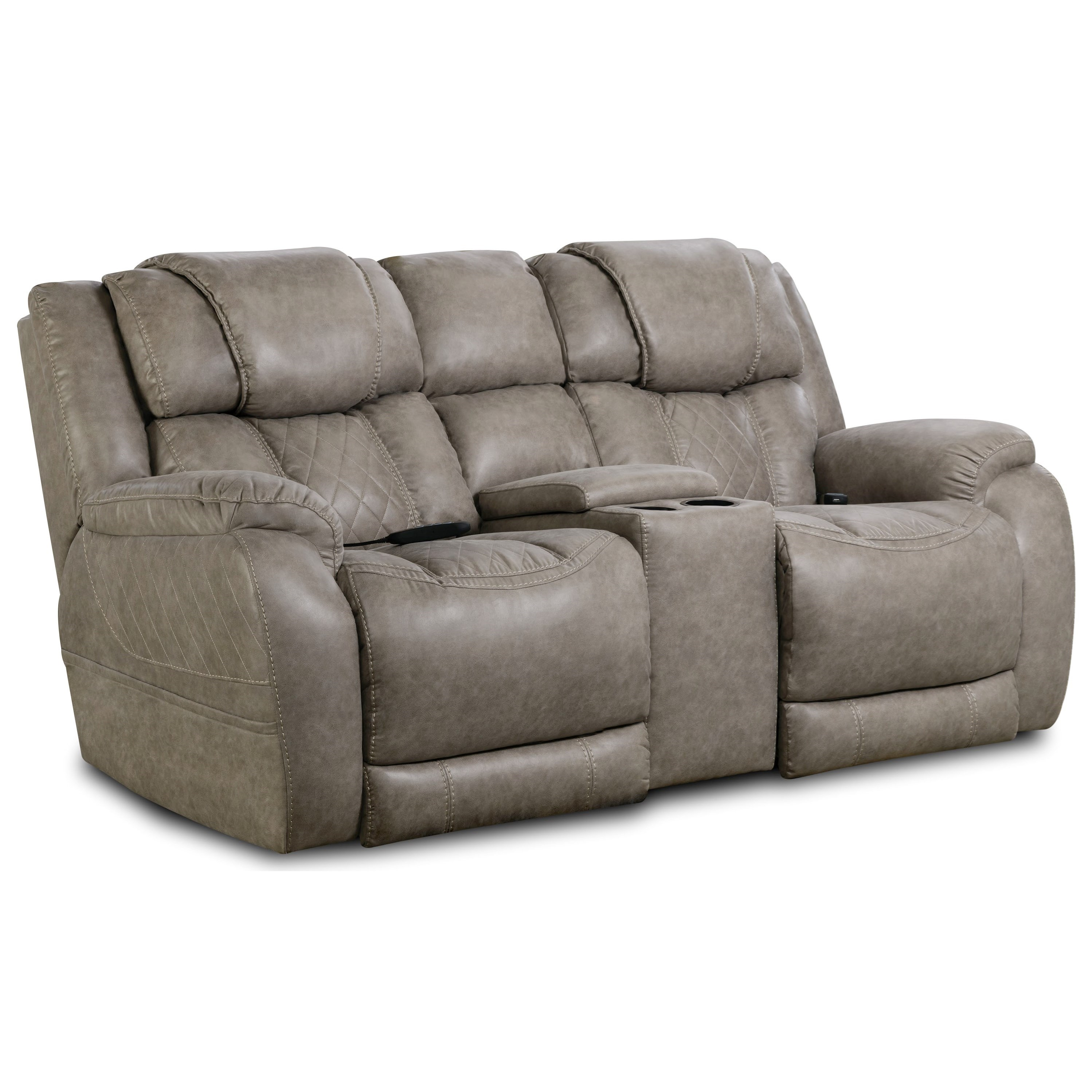 174 Power Console Loveseat by HomeStretch at Van Hill Furniture