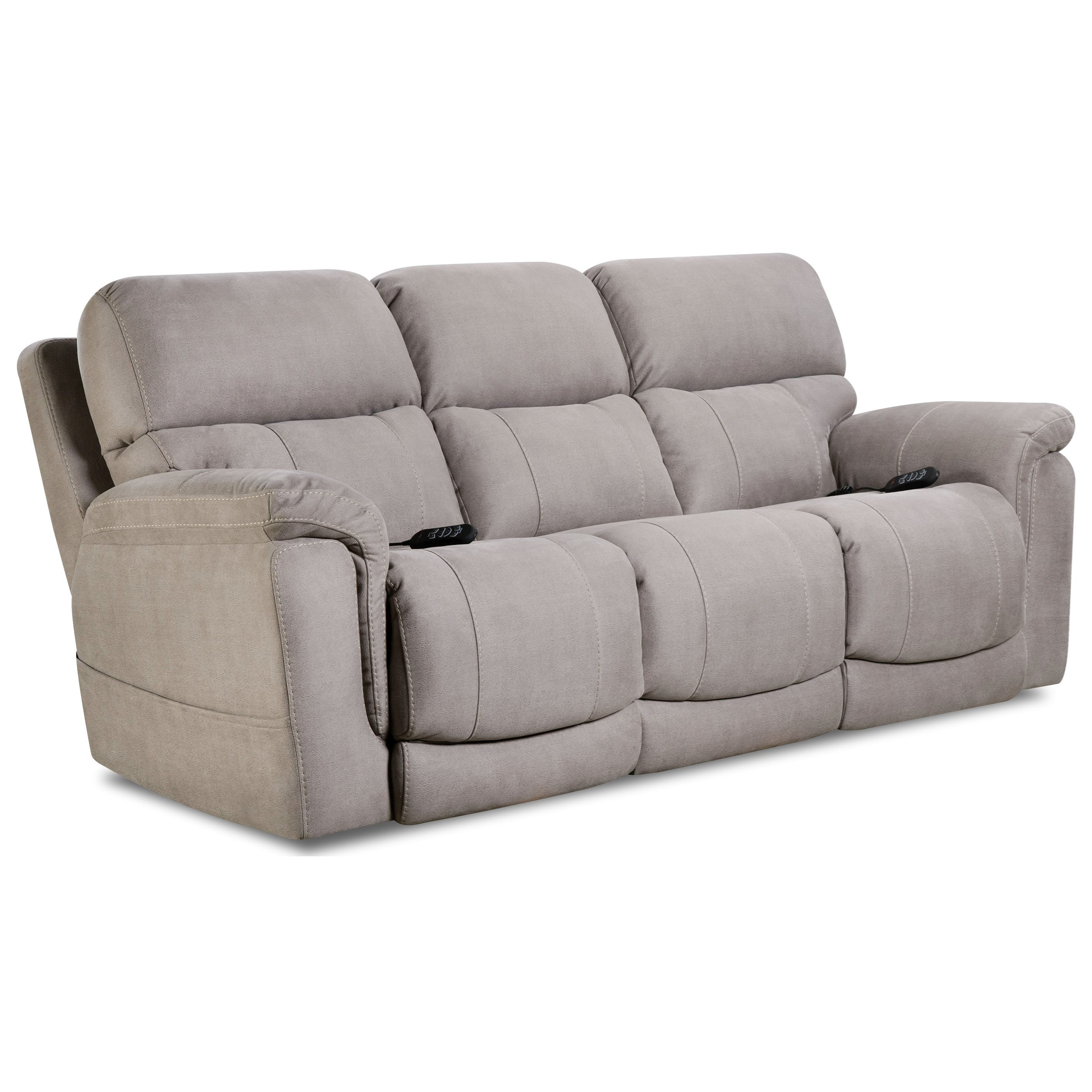 175 Collection Double Reclining Power Sofa by HomeStretch at Pilgrim Furniture City