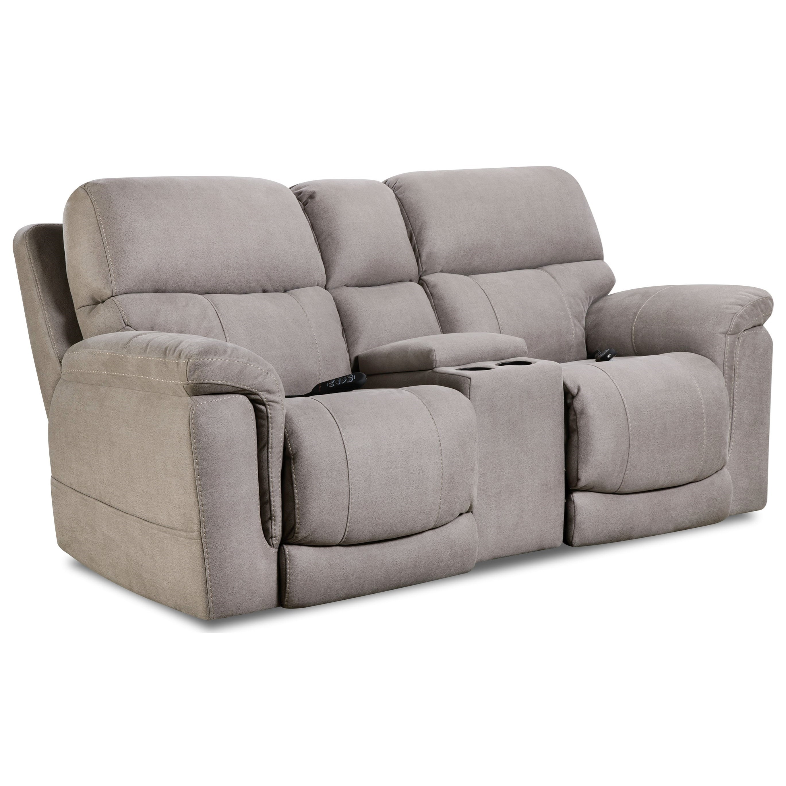 175 Collection Power Console Loveseat by HomeStretch at Pilgrim Furniture City