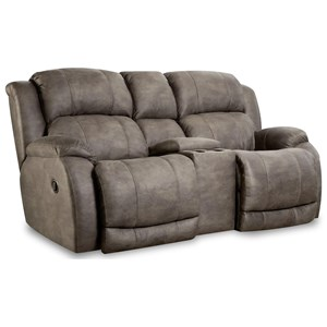 "Reclining Console Loveseat with ""Scoop"" Seating System"