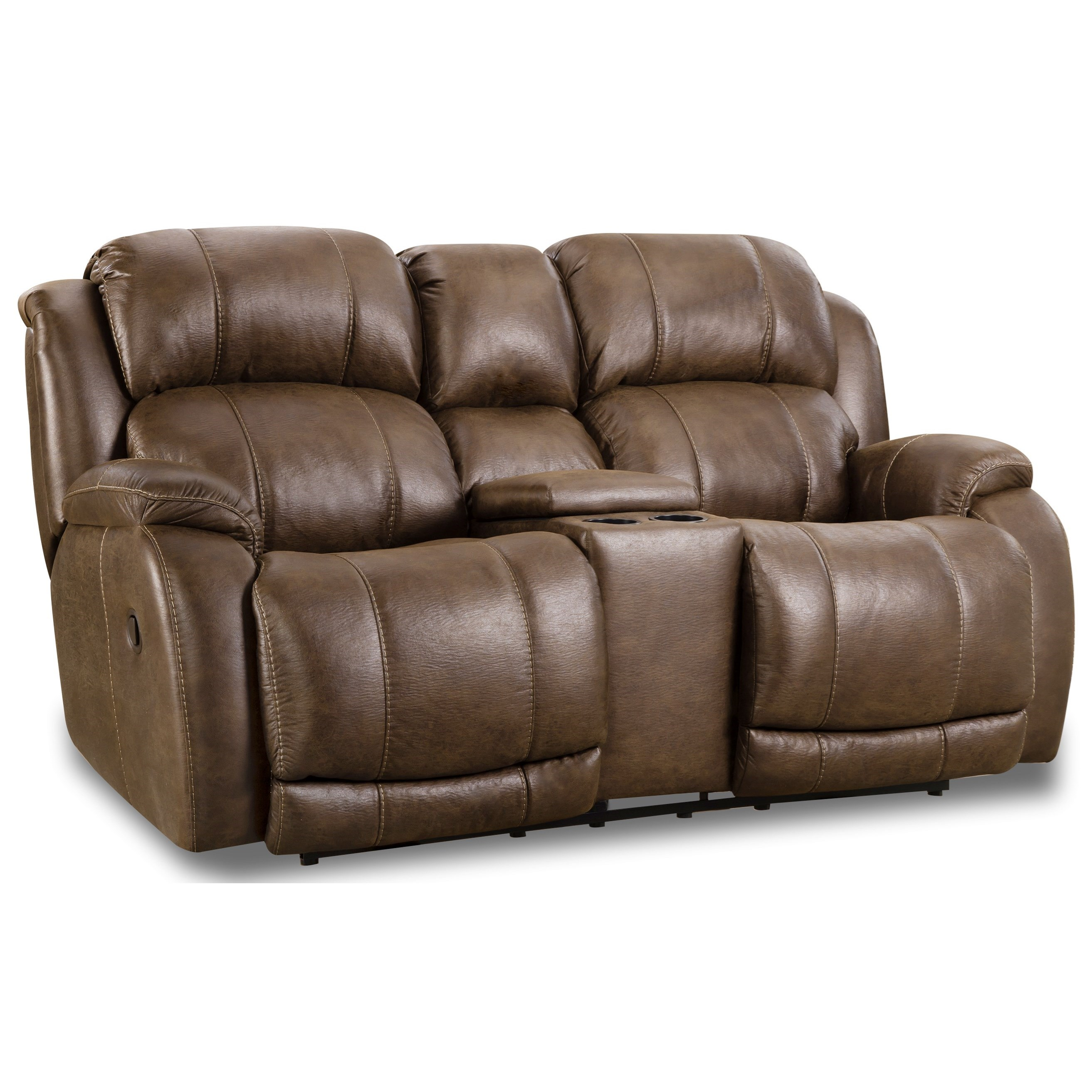 Denali Power Reclining Console Loveseat by HomeStretch at Story & Lee Furniture
