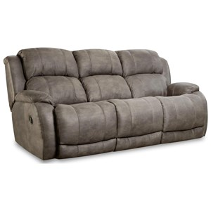 "Dual Reclining Sofa with ""Scoop"" Seating System"