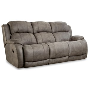 "Power Reclining Sofa with ""Scoop"" Seating System"
