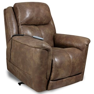 Casual Lift Chair with Power Headrest and Lumbar Support
