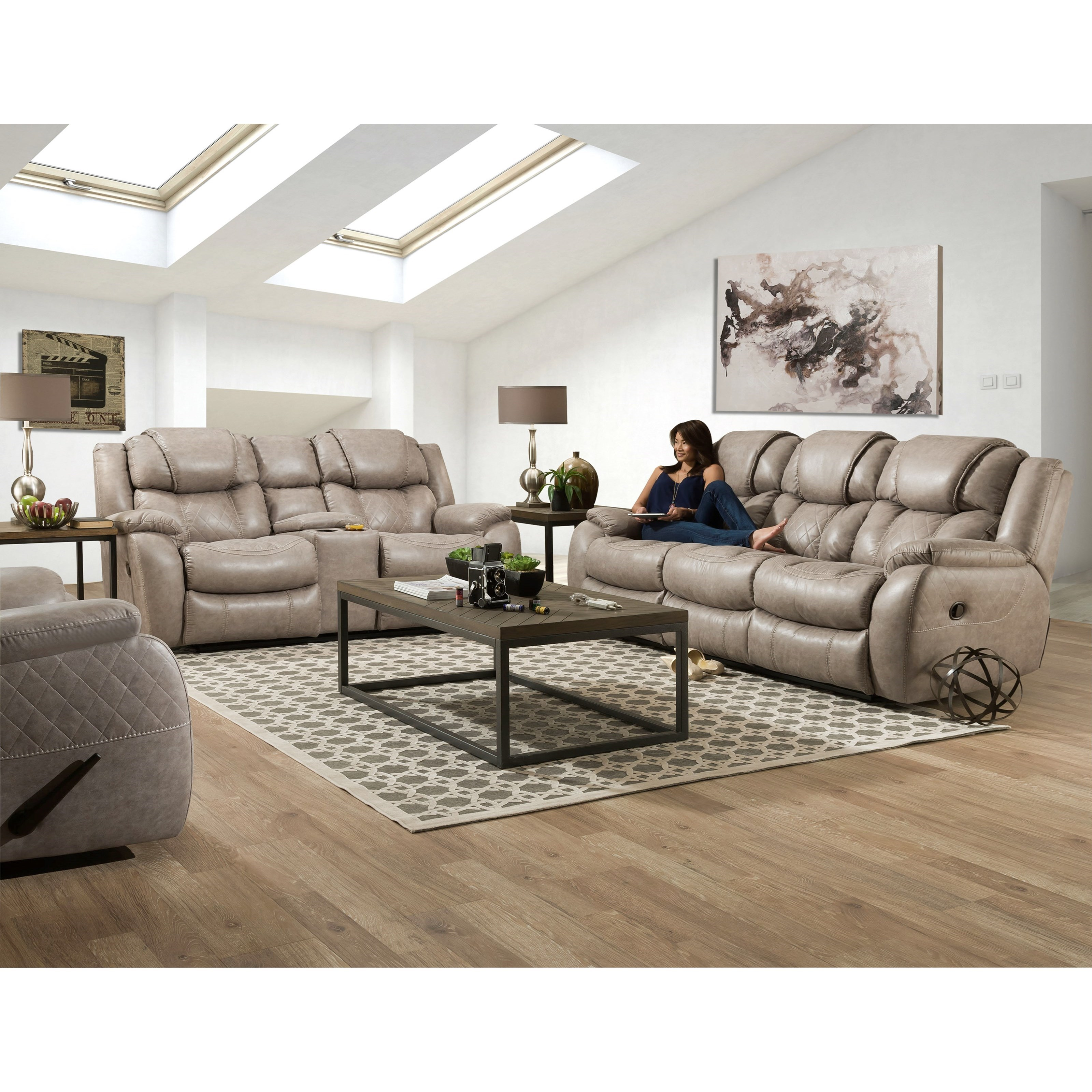 182 Reclining Living Room Group by HomeStretch at Suburban Furniture