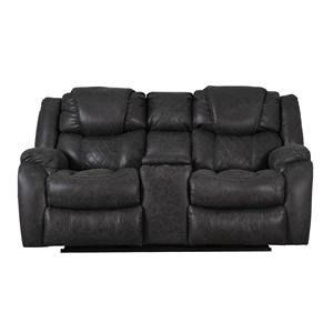 Casual Style Reclining Console Loveseat