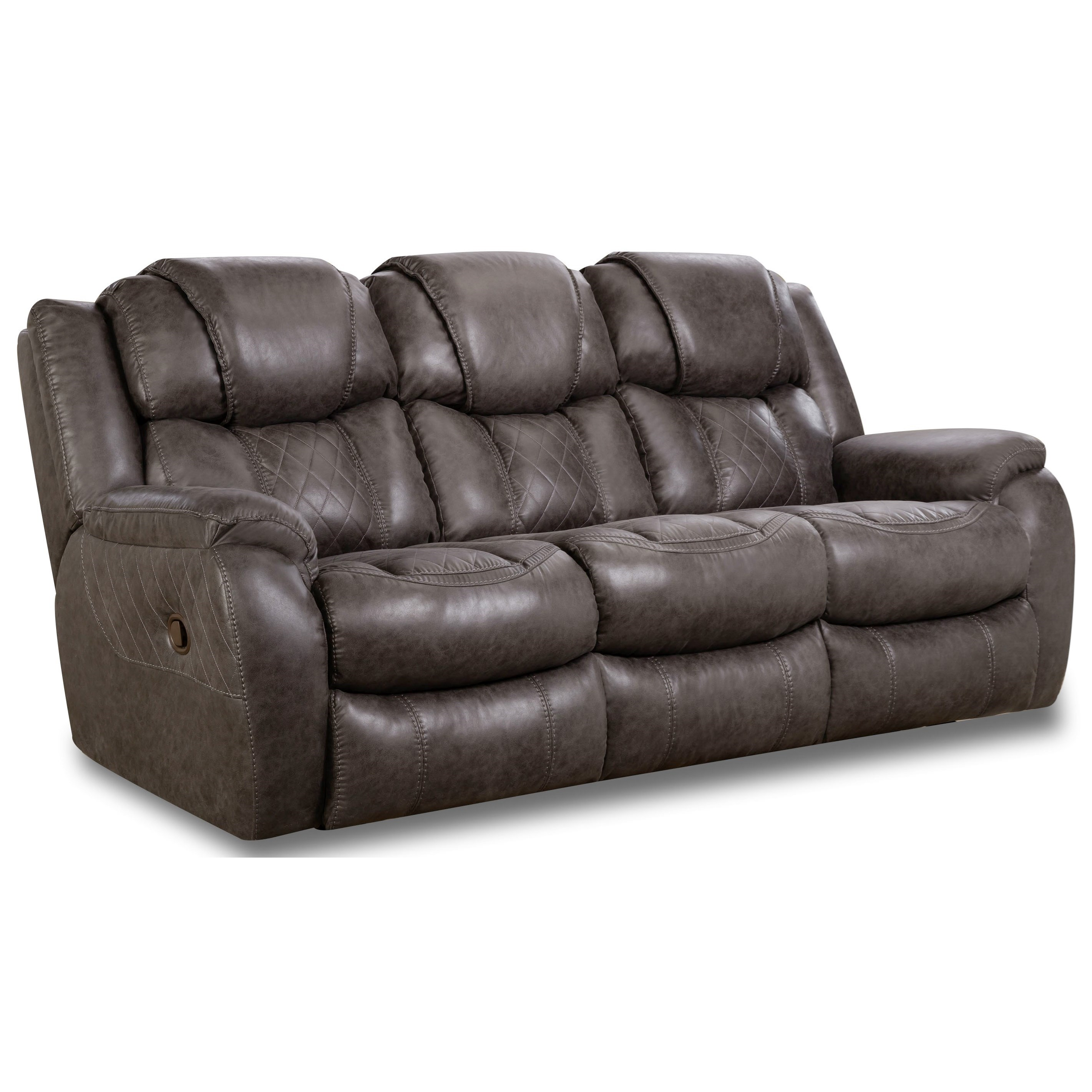 Marlin Double Reclining Sofa by HomeStretch at Standard Furniture