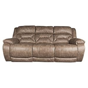 Casual Power Reclining Sofa with Power Head rest