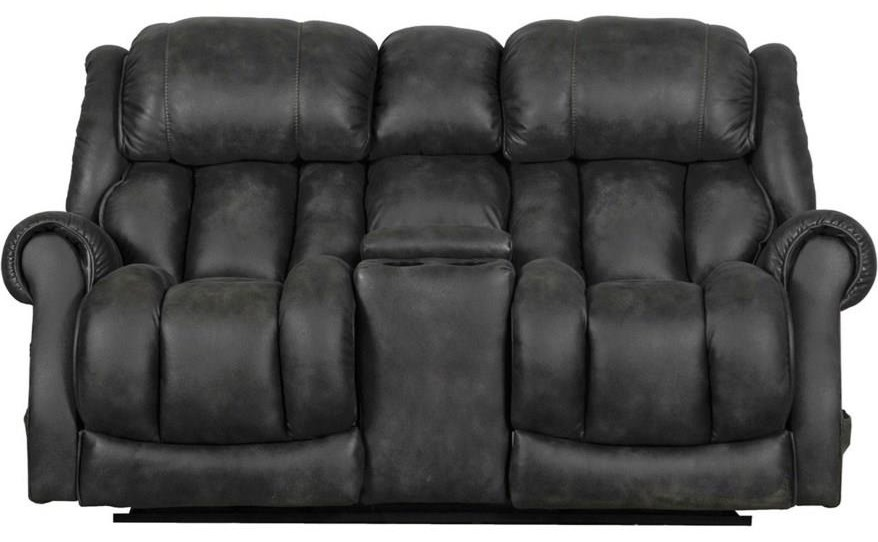 Power Reclining Console Loveseat at Sadler's Home Furnishings