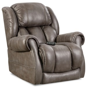 Casual Power Recliner with Padded Rolled Arms