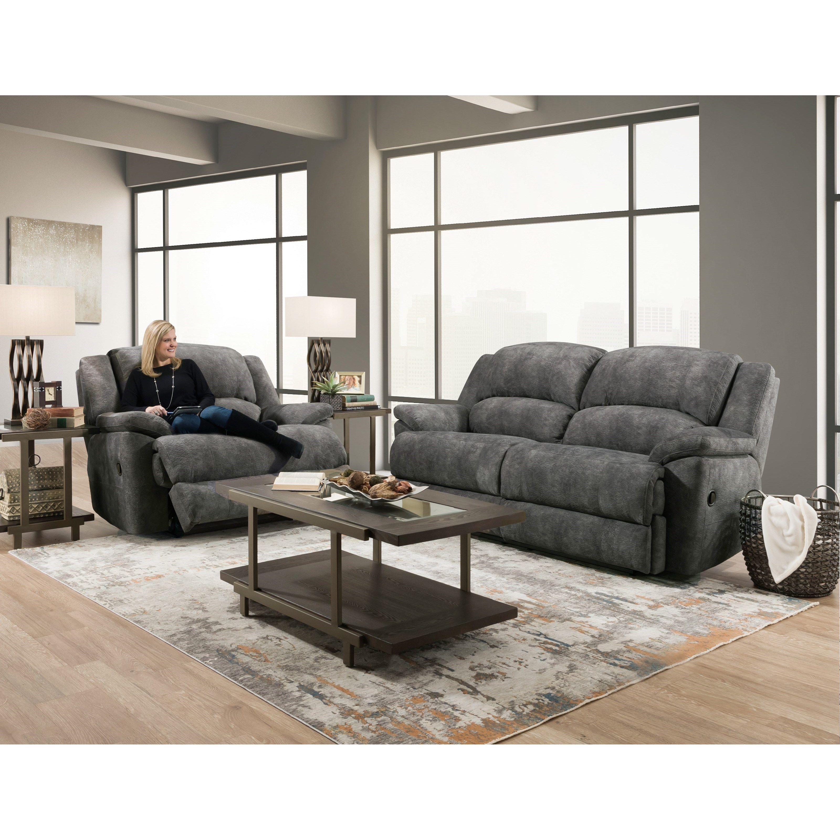 Bristol Power Reclining Living Room Group by HomeStretch at Standard Furniture