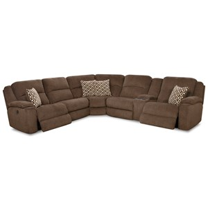 Casual Power Reclining Sectional Sofa with USB Charging Cup Holders