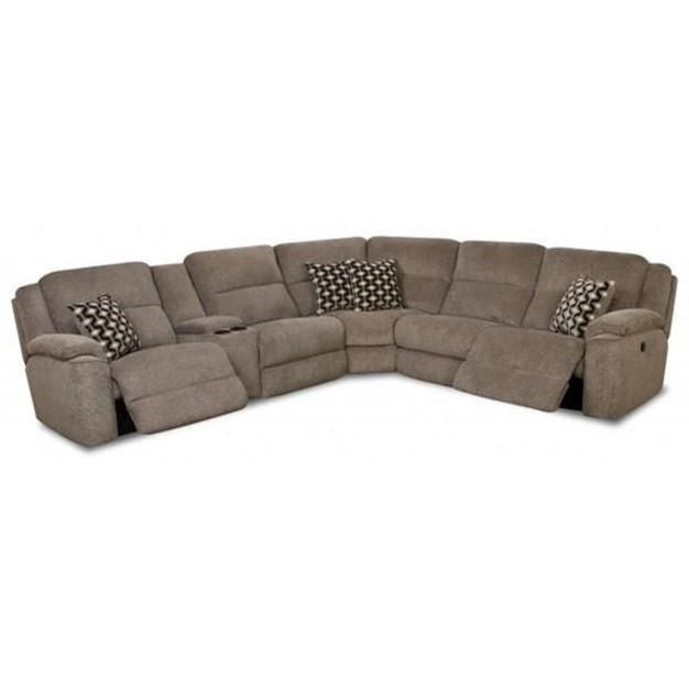 Catalina 162 Casual Power Reclining Sectional Sofa by HomeStretch at Johnny Janosik