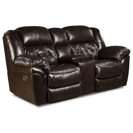 Cheyenne Leather Console Loveseat by HomeStretch at Standard Furniture
