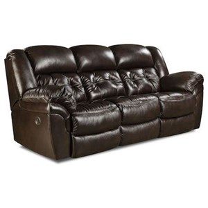 Casual Double Reclining Sofa with Pillow Arms