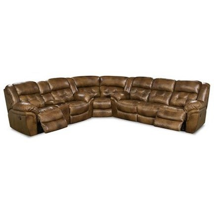 Cheyenne Super Wedge Power Reclining Sectional by HomeStretch at Rife's Home Furniture