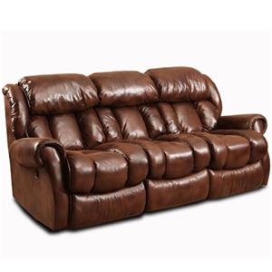 Casual Reclining Sofa with Channel Back