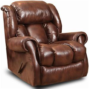 Casual Wall-Saver Power Recliner with Channel Back