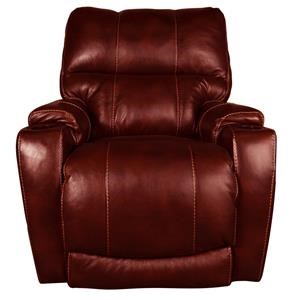 Leather-Match Power Recliner with USB, Power Headrest and Lumbar Support