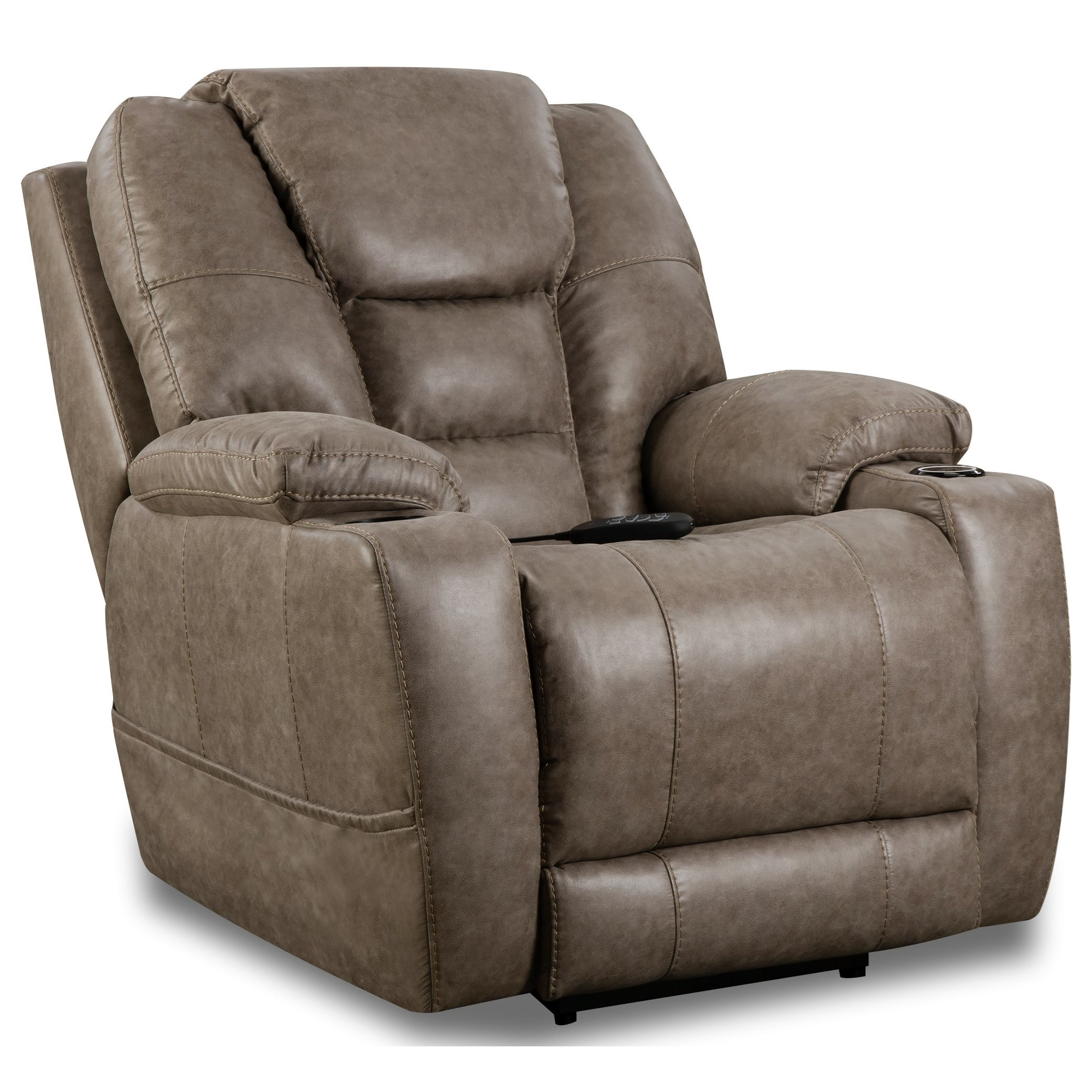 Discovery Power Recliner at Sadler's Home Furnishings