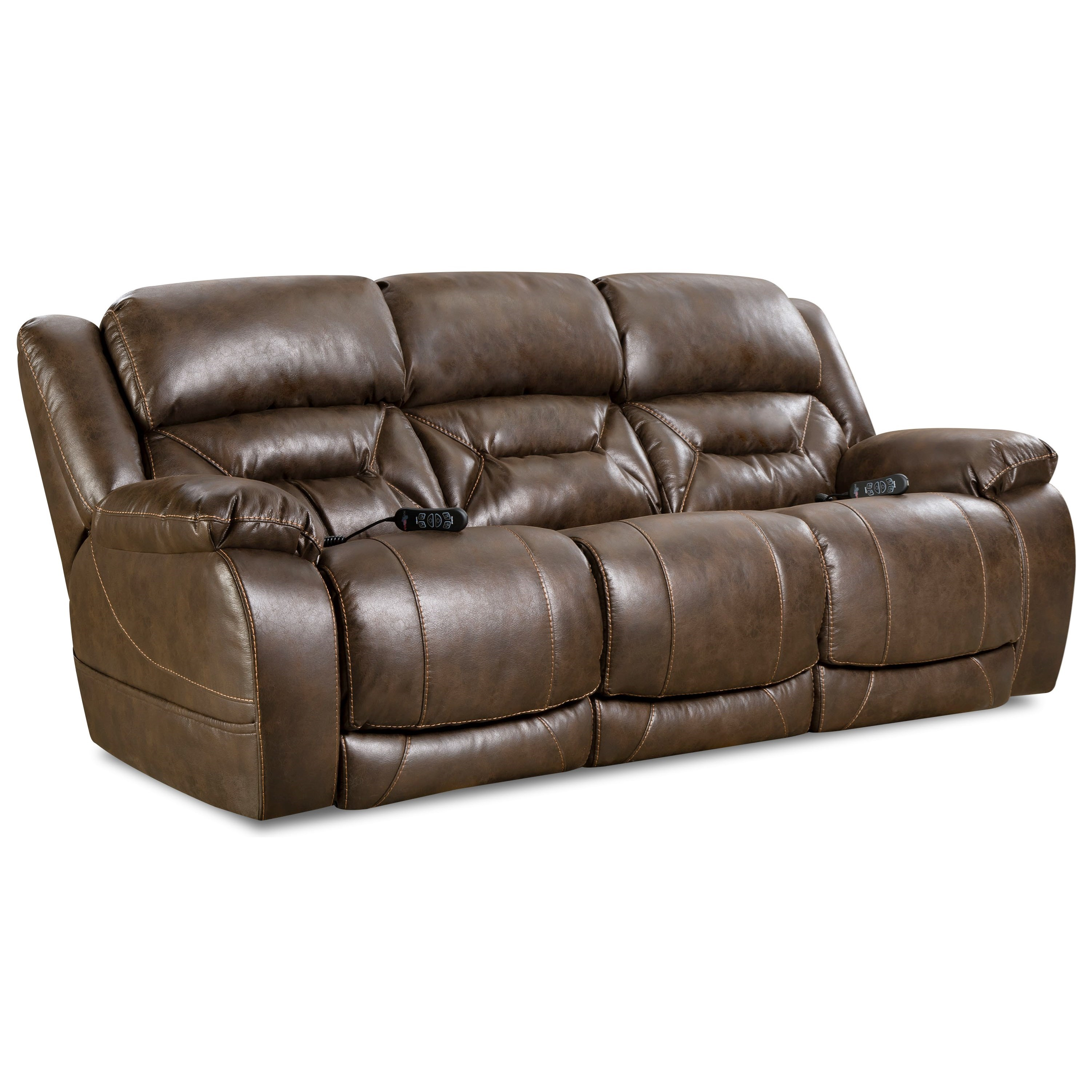 Enterprise Power Reclining Sofa by HomeStretch at Darvin Furniture
