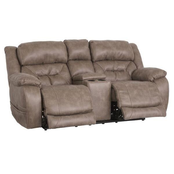 Enterprise Power Reclining Console Loveseat by HomeStretch at Darvin Furniture