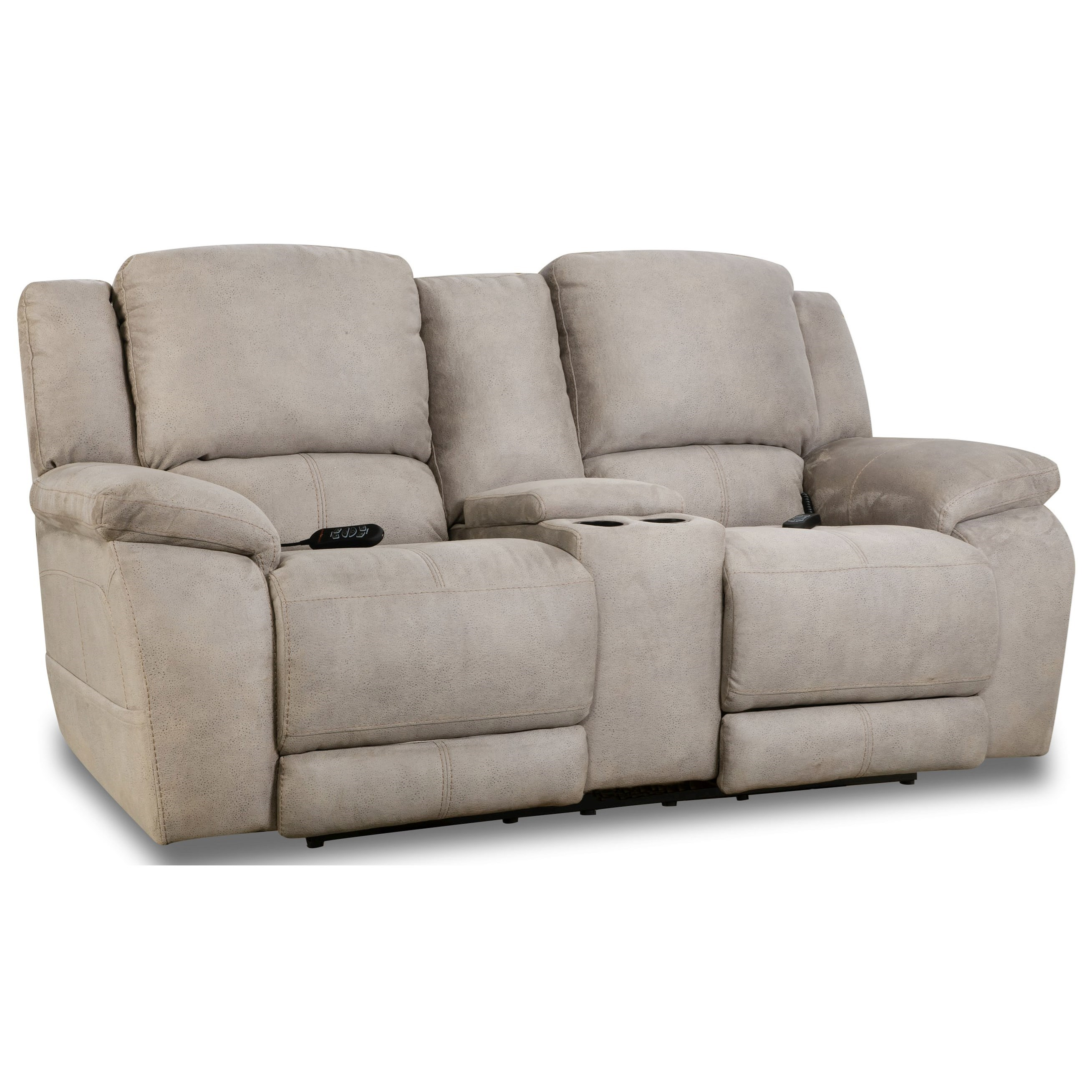 Explorer Power Console Loveseat by HomeStretch at HomeWorld Furniture