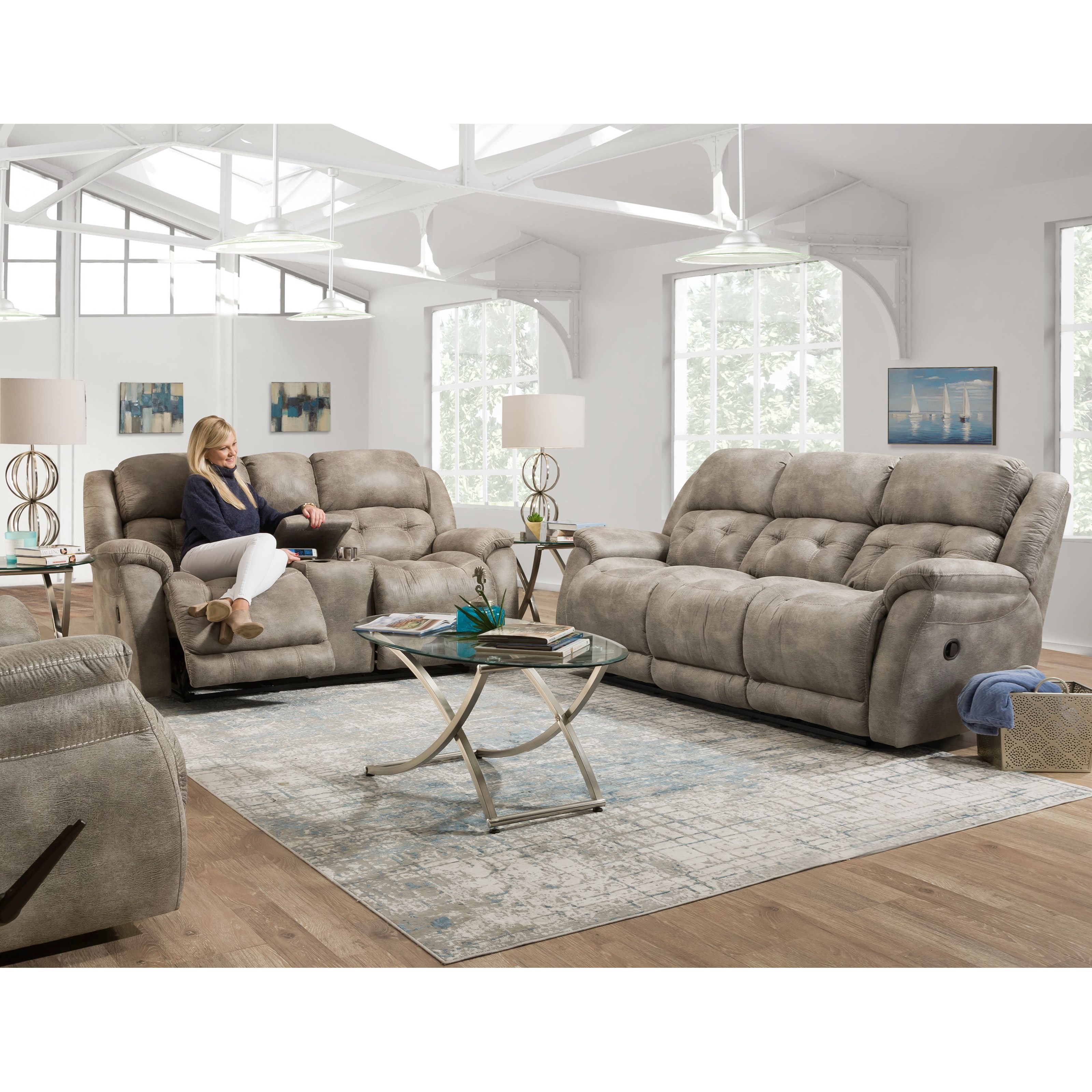 McLean Reclining Living Room Group by HomeStretch at Rife's Home Furniture