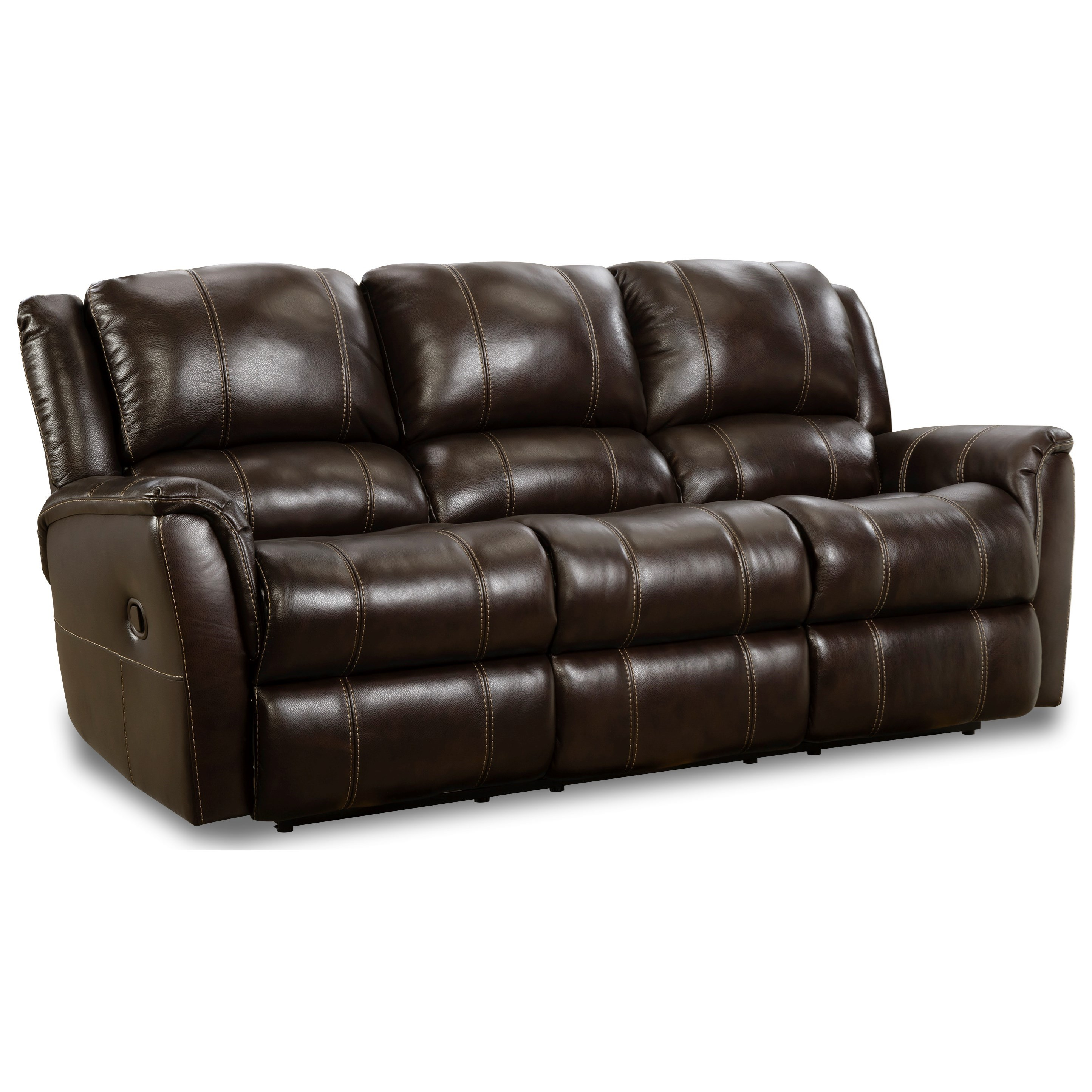 Mercury Double Reclining Sofa by HomeStretch at Van Hill Furniture