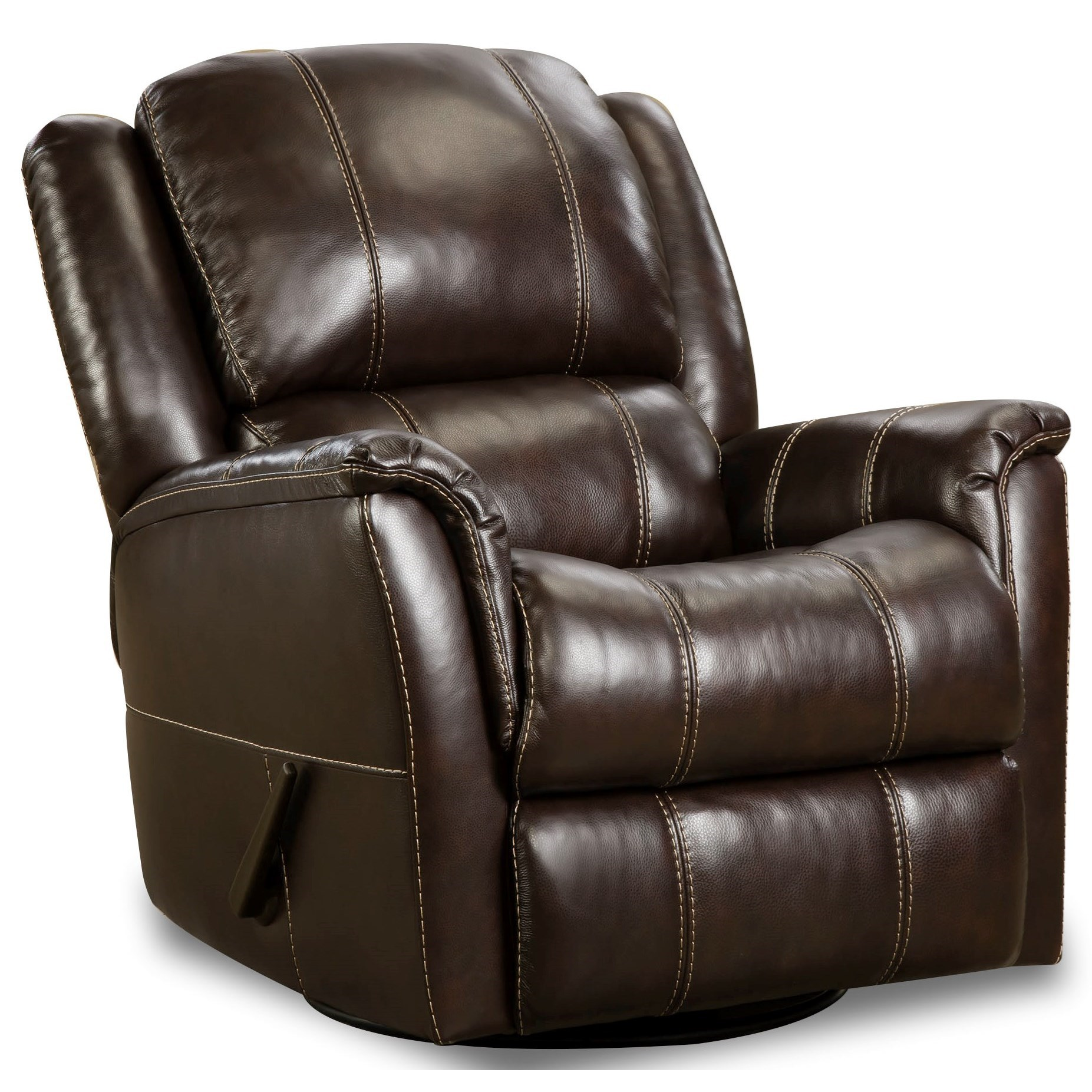 Mercury Swivel Glider Recliner by HomeStretch at Steger's Furniture
