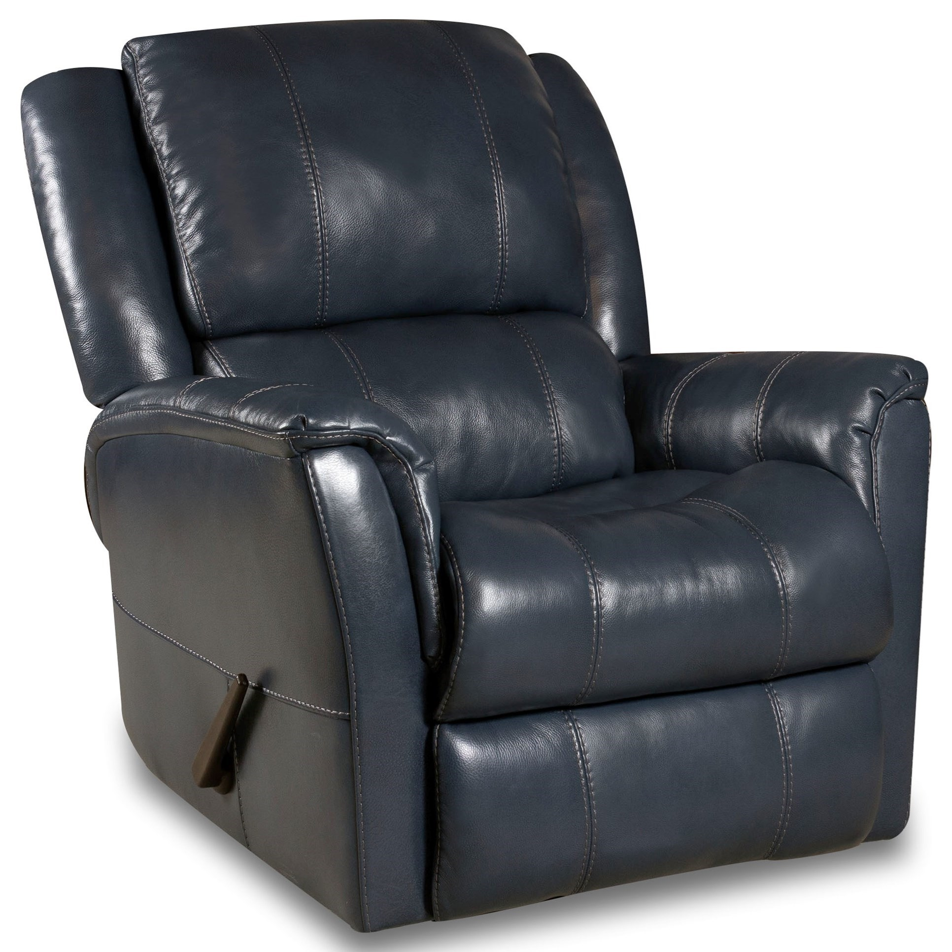Mercury Swivel Glider Recliner by HomeStretch at Darvin Furniture