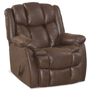 Casual Rocker Recliner with Bustled Back