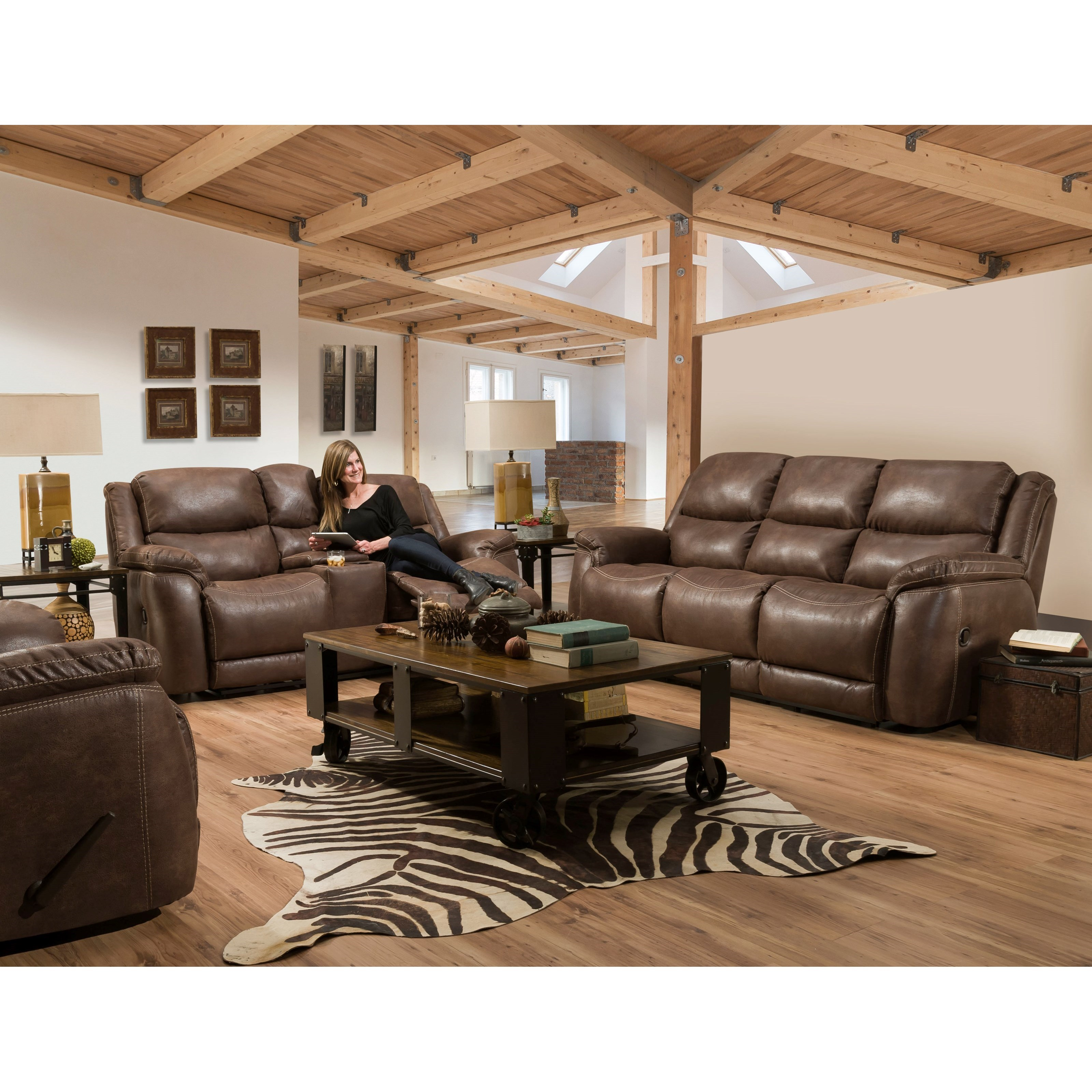 Riatta Reclining Living Room Group by HomeStretch at Johnny Janosik