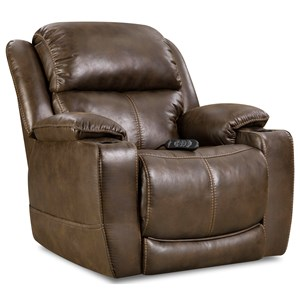 Casual Home Theater Recliner with Cup Holders