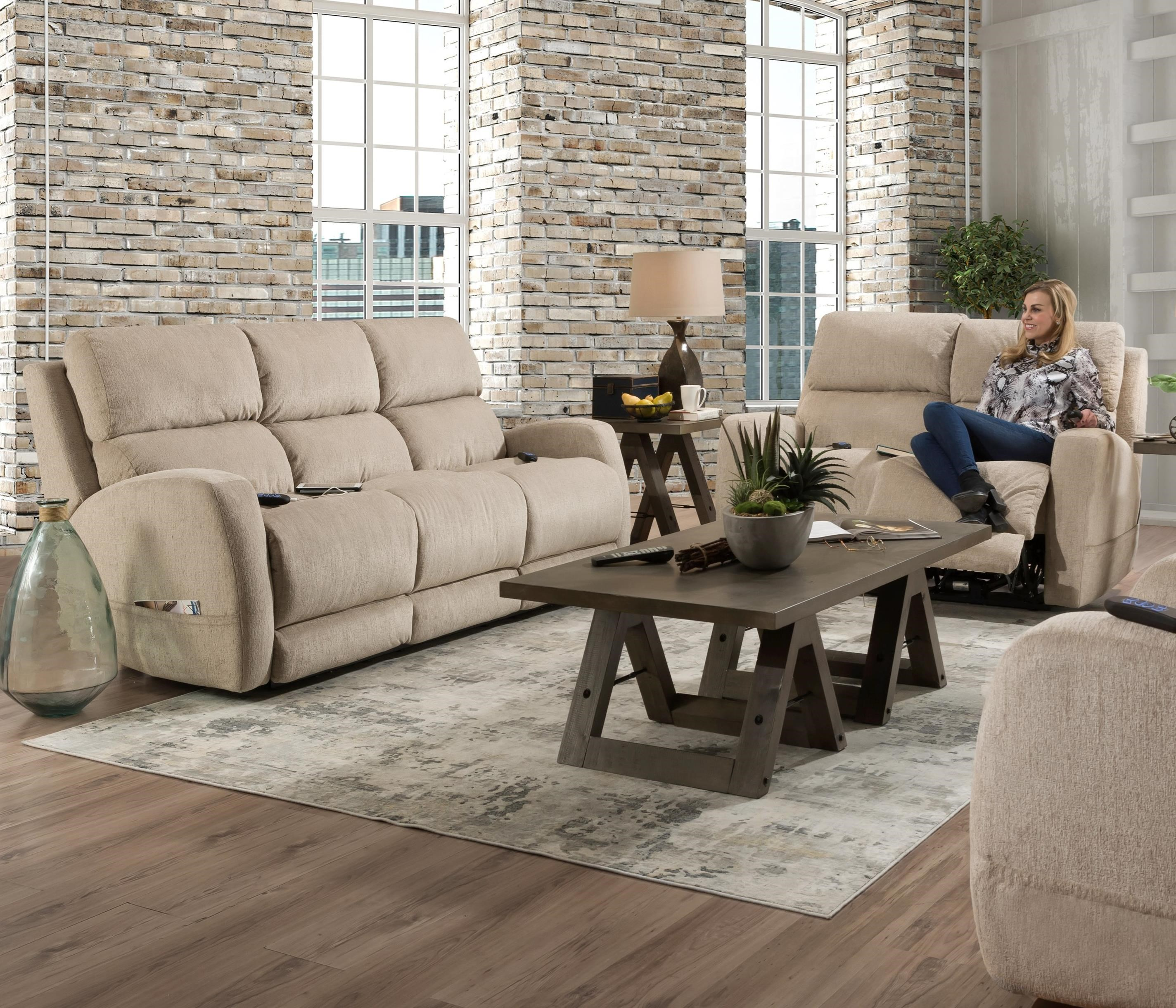 Sterling Power Reclining Living Room Group by HomeStretch at Johnny Janosik