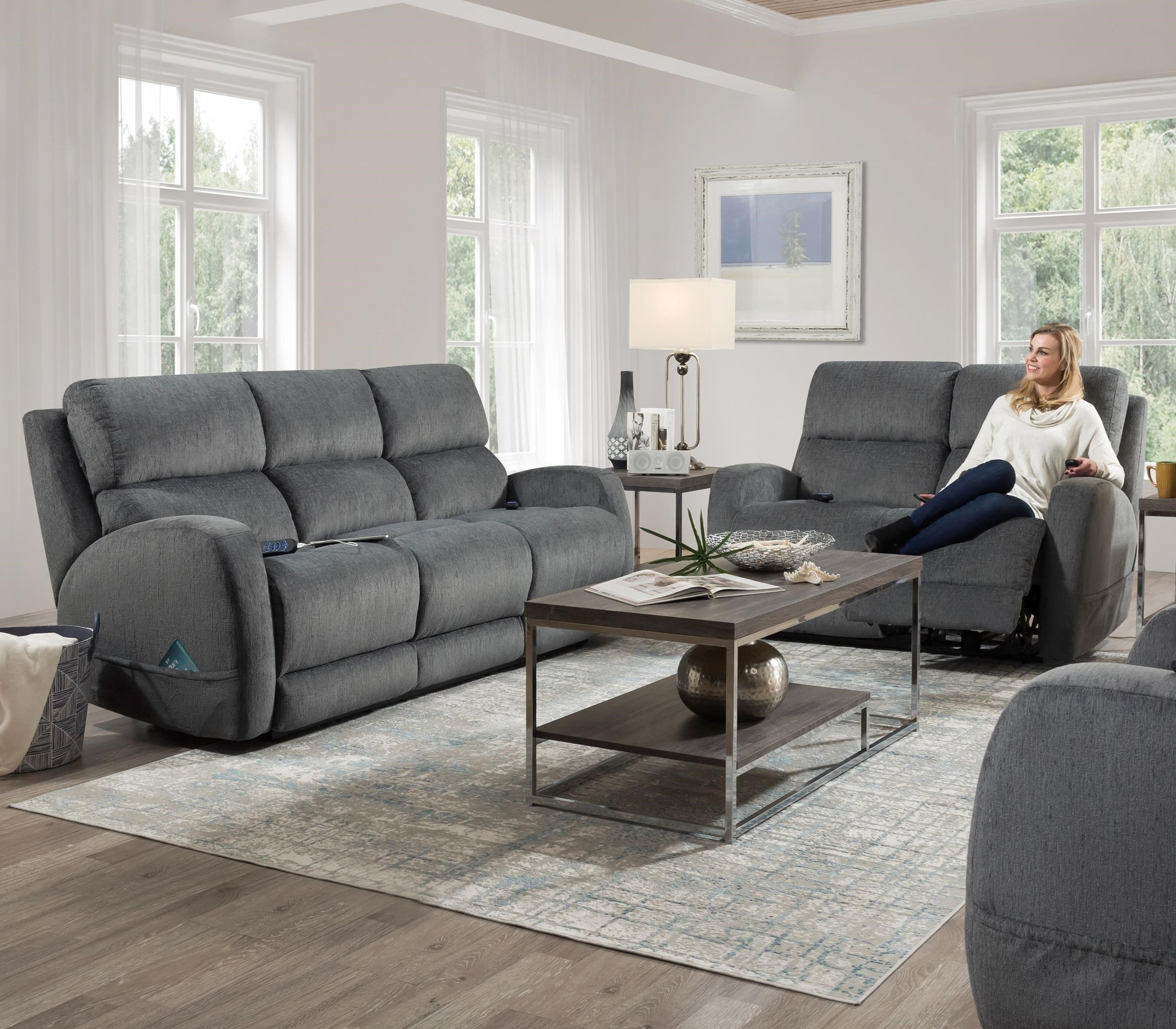 Sterling Power Reclining Living Room Group by HomeStretch at Furniture Barn