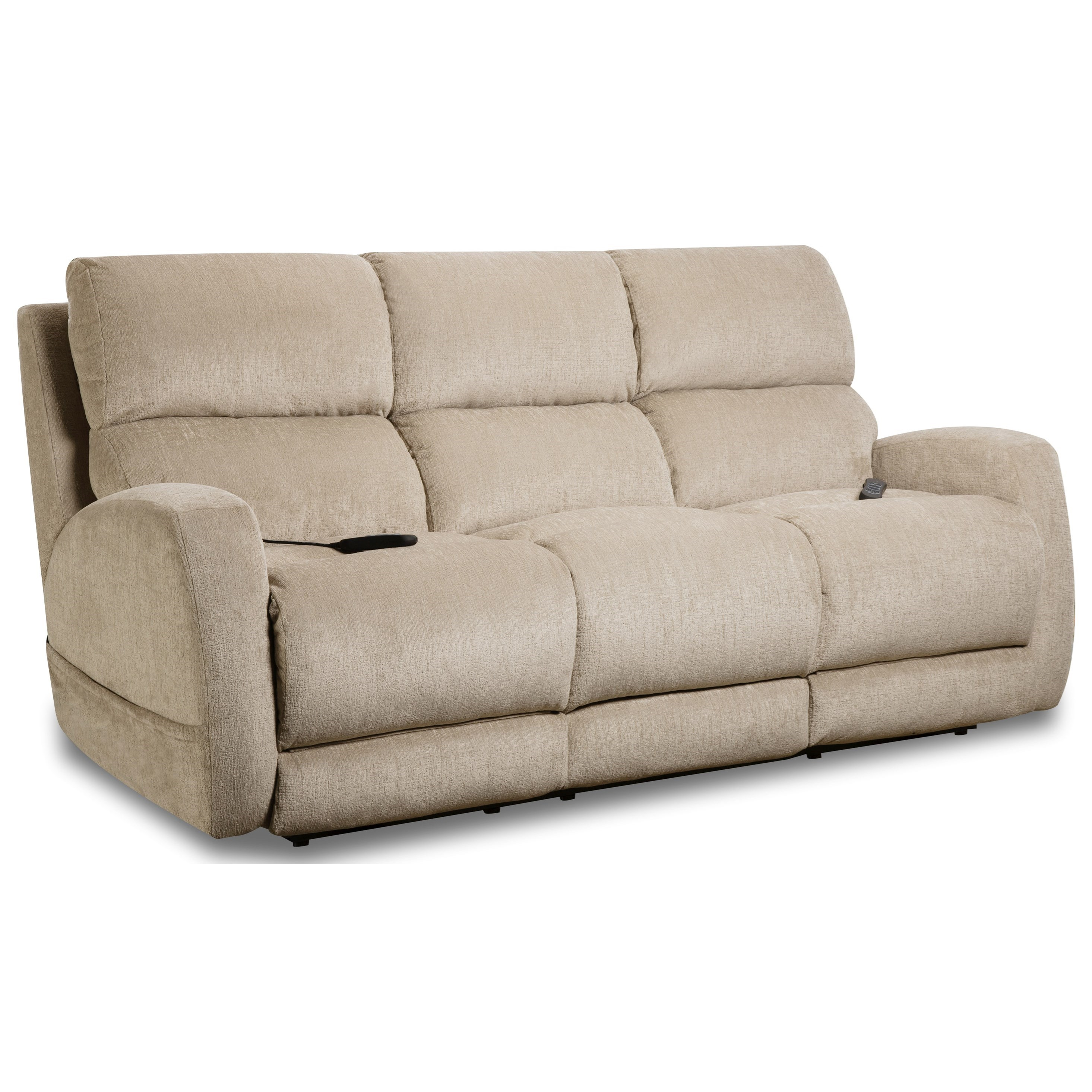 Sterling Double Reclining Power Sofa by HomeStretch at Johnny Janosik