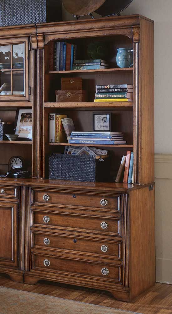 Brookhaven Bookcase w/Lateral File Base by Hooker Furniture at Miller Waldrop Furniture and Decor