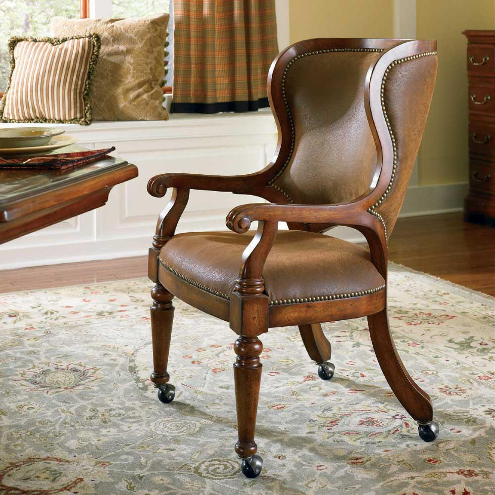 Waverly Place Castered Game Chair by Hooker Furniture at Miller Waldrop Furniture and Decor