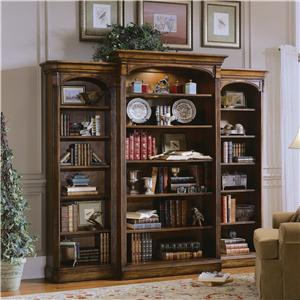 Three Piece Open Bookcase