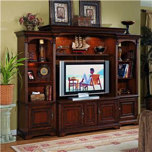 Entertainment Center with Interchangeable Wood/Glass Doors