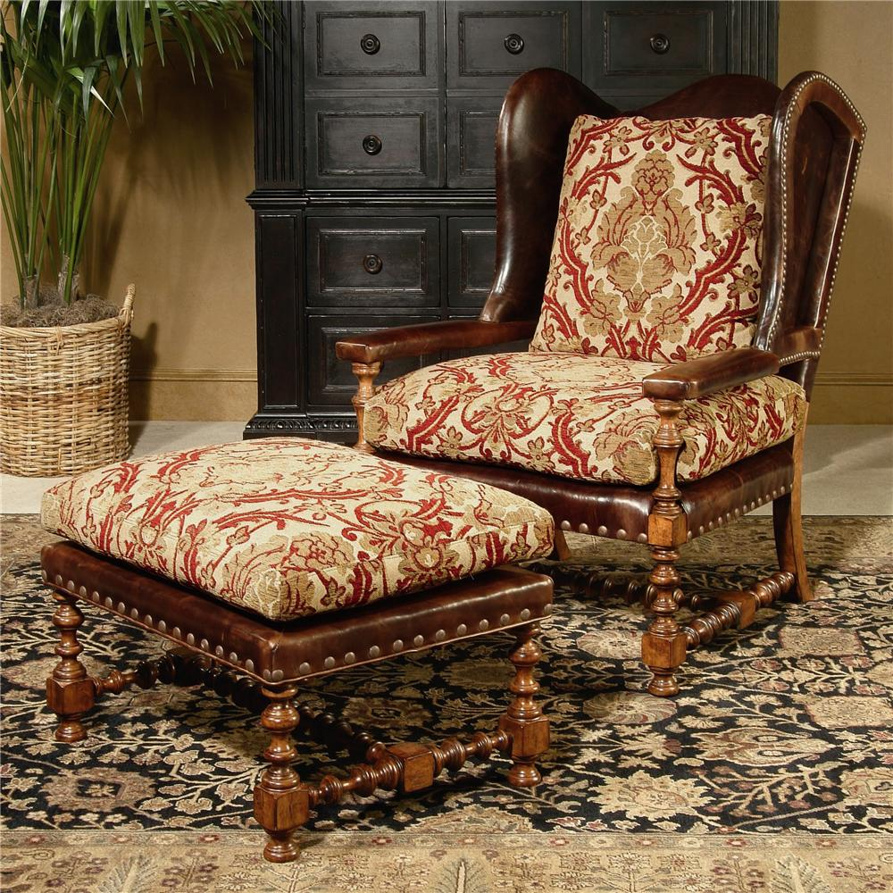 Century Chair Cadbury Wing Chair and Ottoman by Century at Baer's Furniture
