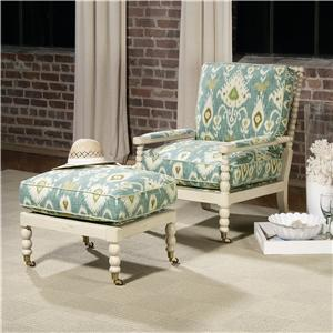 Century Century Chair Hobson Chair and Ottoman